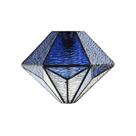 Einzeln Glasschirm Tiffany Akira Blue