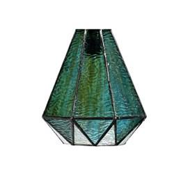 Einzeln Glasschirm Tiffany Arata Green