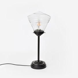 Schlanke Tischlamp School Clear de Luxe Moonlight