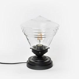 Niedrige Tischlampe School de Luxe small Transparent Moonlight