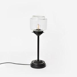 Schlanke Tischlampe Stepped Cylinder Small Transparant Moonlight