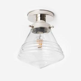 Deckenlampe Luxuriös Schule Klein Klar 20's Nickel