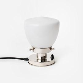 Tischlampe School Globe 20's Nickel