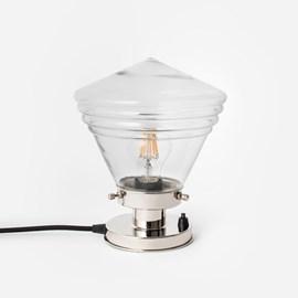 Tischlampe Luxuriös Schule Klein Klar 20's Nickel