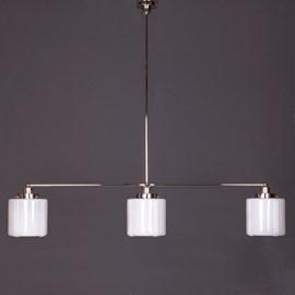 Hängelampe 3-Lichter mit Glasschirm Vintage High