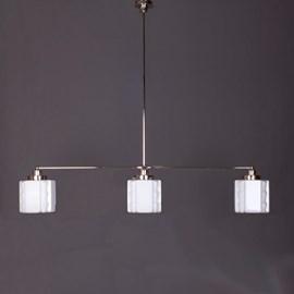 Hängelampe 3-Lichter mit Glasschirm Expressionism