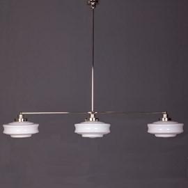 Hängelampe 3-Lichter mit Glasschirm Bing