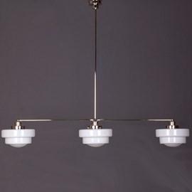 Hängelampe 3-Lichter mit Glasschirm Semi-Round Stepped Globe