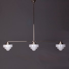 Hängelampe 3-Lichter mit Glasschirm Lorm