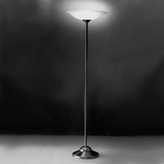 Große Stehlampe mit Geätzte Glasschirm