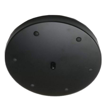 Deckenrosette für 2 bis 6 Kabel   Schwarz