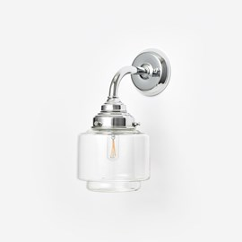 Wandleuchte Small Stepped Cylinder clear Curve Chrom